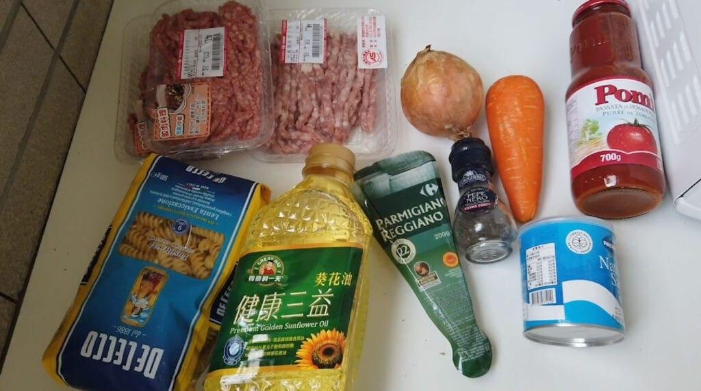 ragu ingredients